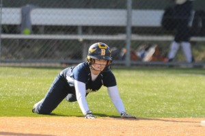 Madi George slides into 2nd/Photo by Dale Garvey