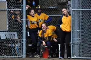 Fun in the dugout/Photo by Dale Garvey